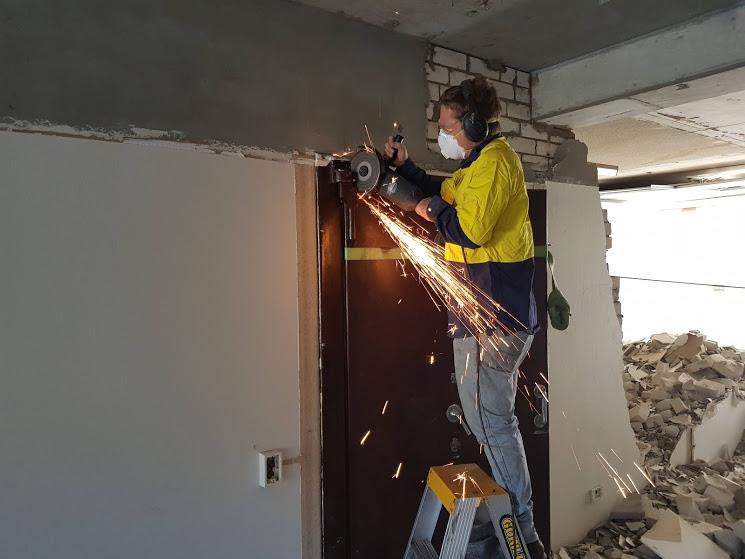 Cutting Vault door off