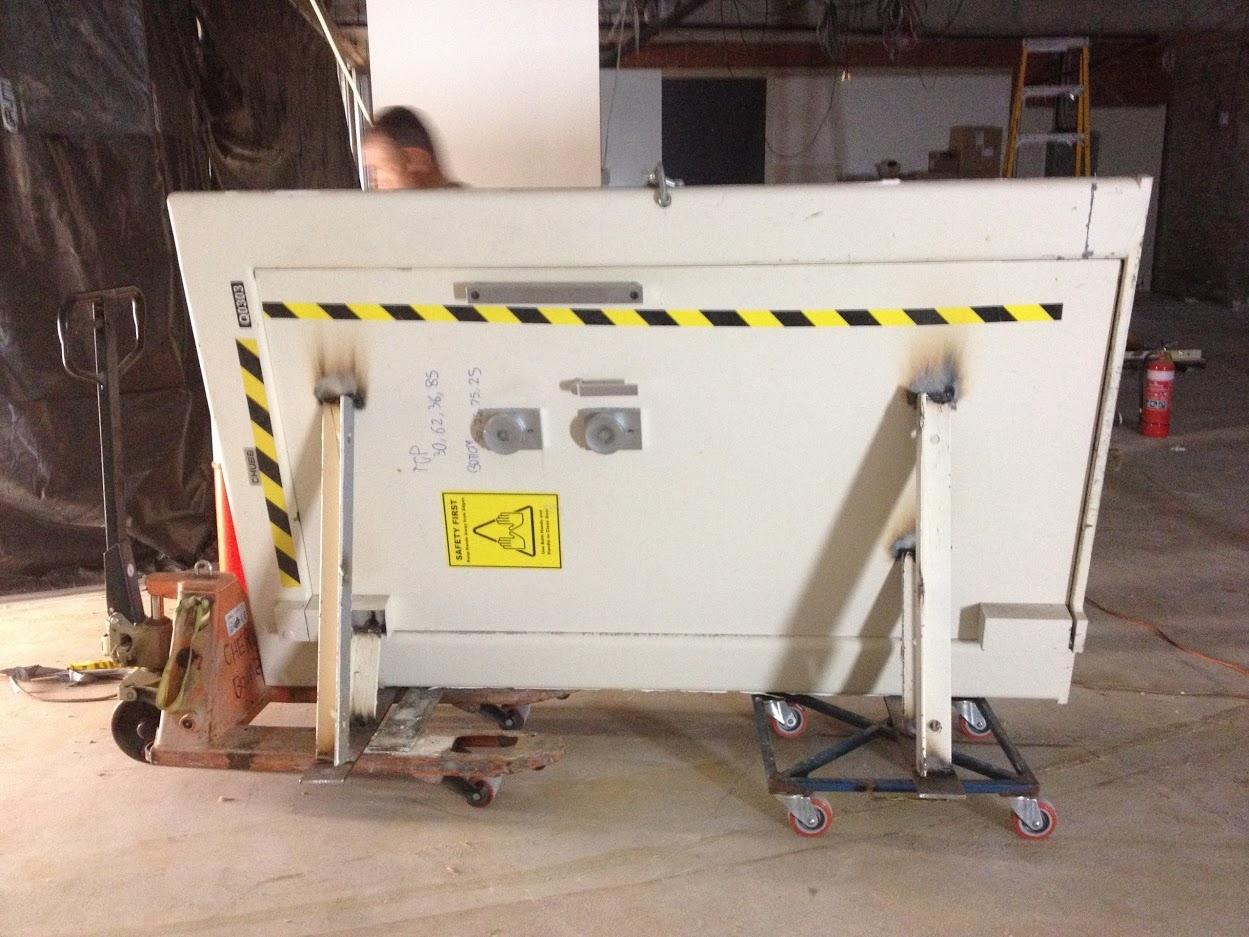 Vault door removal sideways